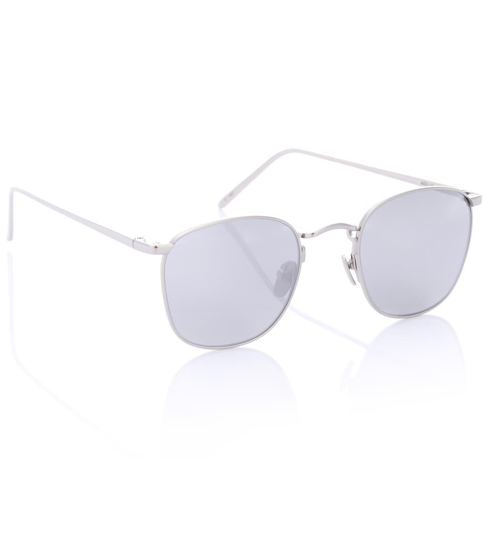 faux Style De Mode Lunettes De Soleil Aviateur En Plaqué Or Blanc 18-22 Ct 479 C2 - Linda Farrow WhvlV24
