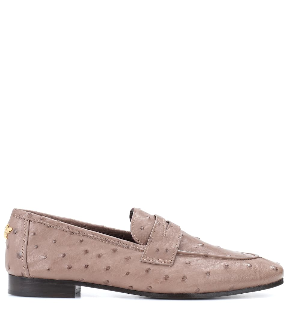 Bougeotte Loafers Of Ostrich Leather