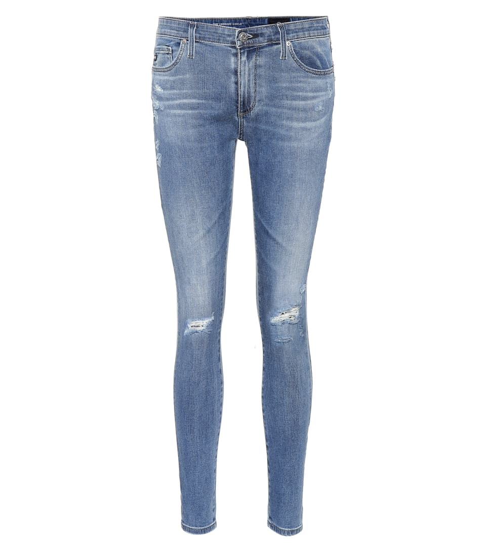 THE LEGGING ANKLE BLUE SKINNY JEANS