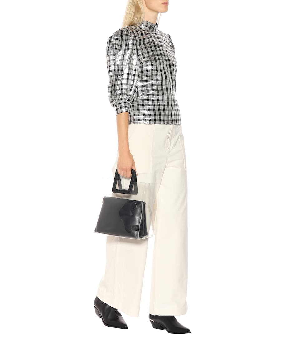 73843d99 Ganni - Lagarde metallic silk-blend blouse | Mytheresa