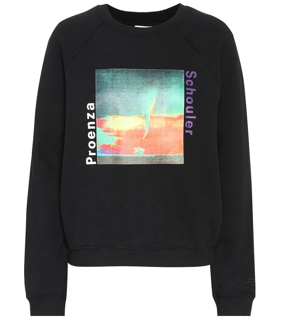 Printed Cotton Sweatshirt by Proenza Schouler