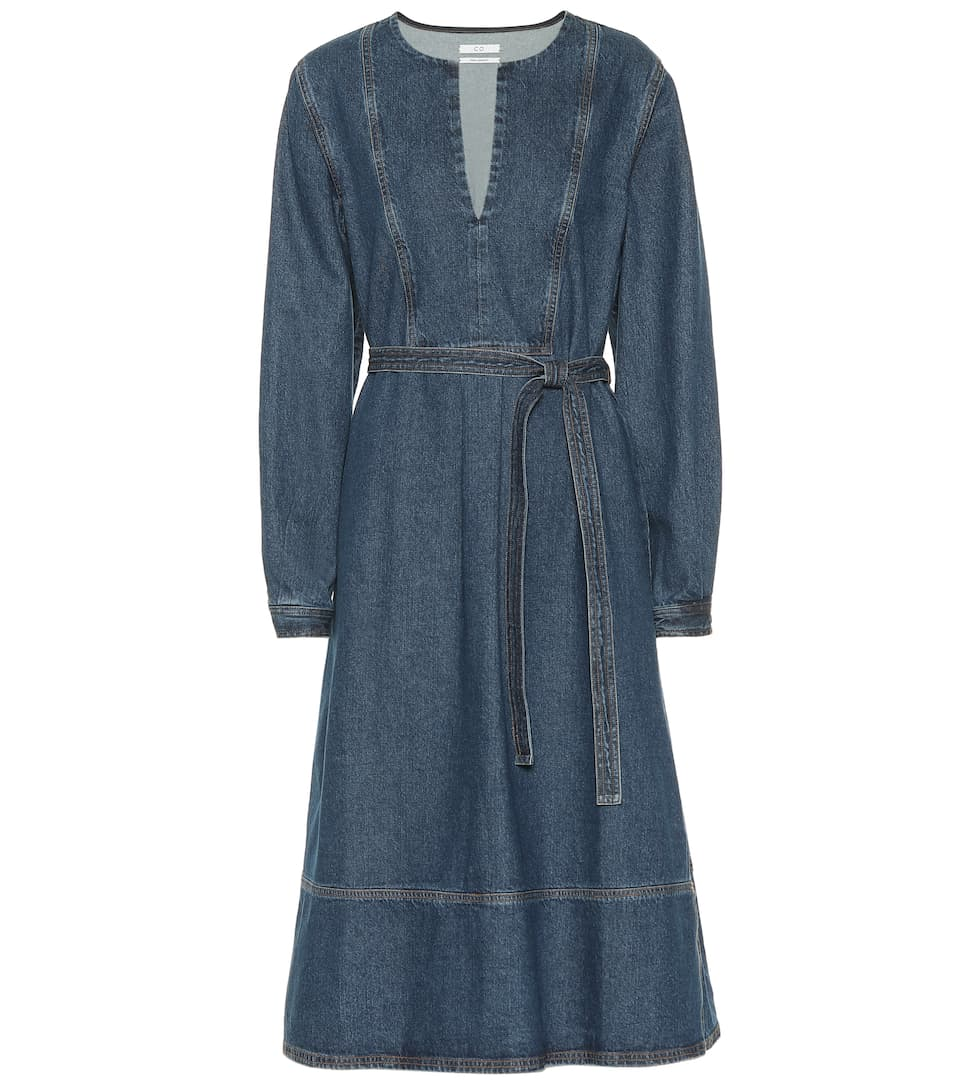 Co BELTED DENIM DRESS