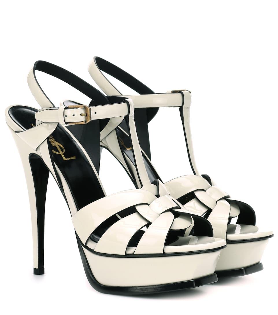 a9f180a1457c6 Tribute 105 Patent Leather Sandals - Saint Laurent