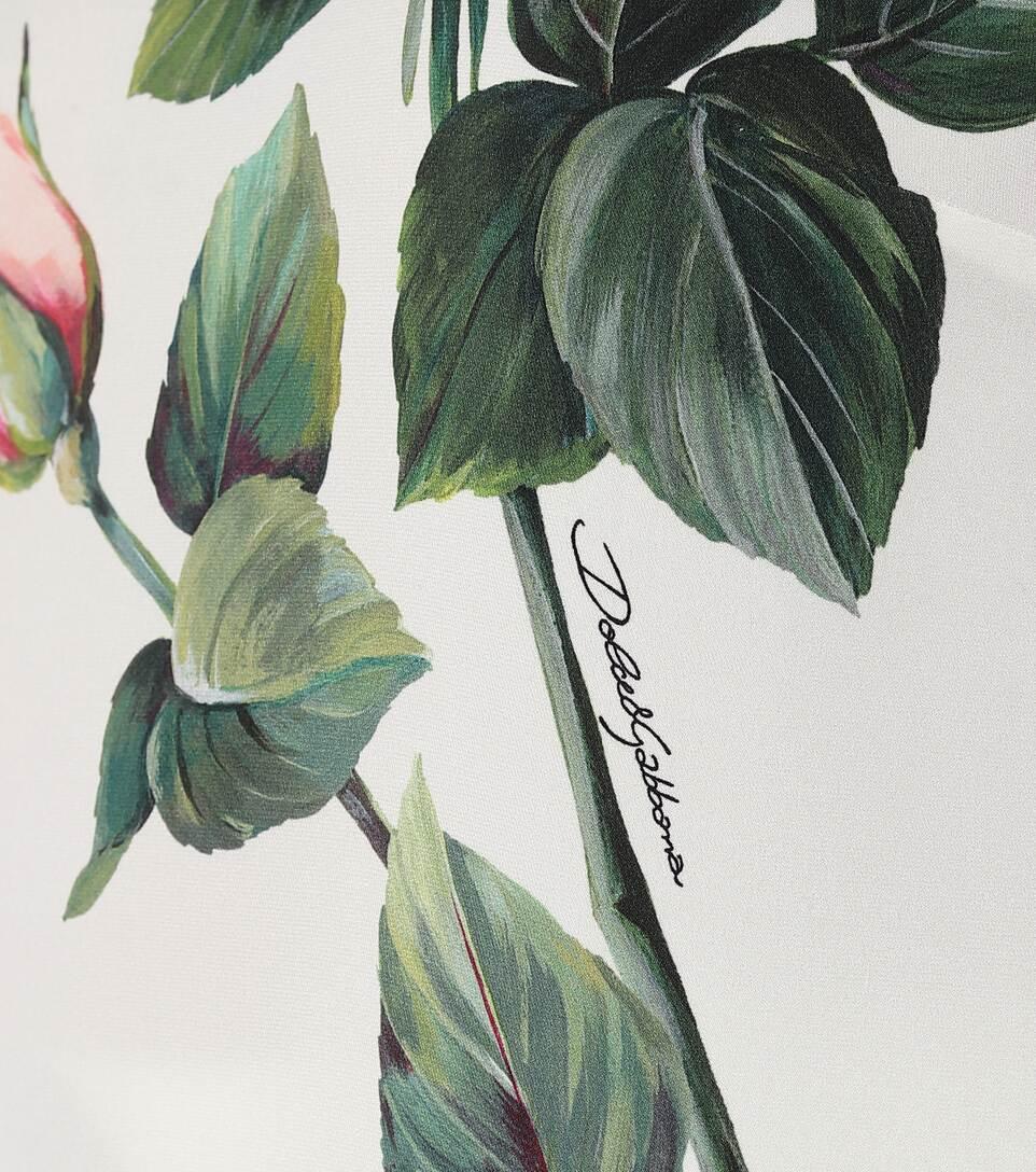 Floral Stretch-Silk Shirt - Dolce & Gabbana