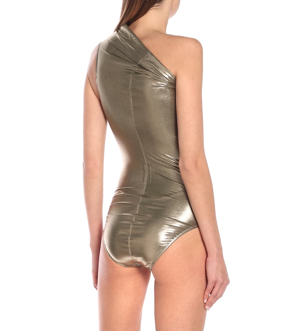 Metallic One-Piece Swimsuit - Rick Owens
