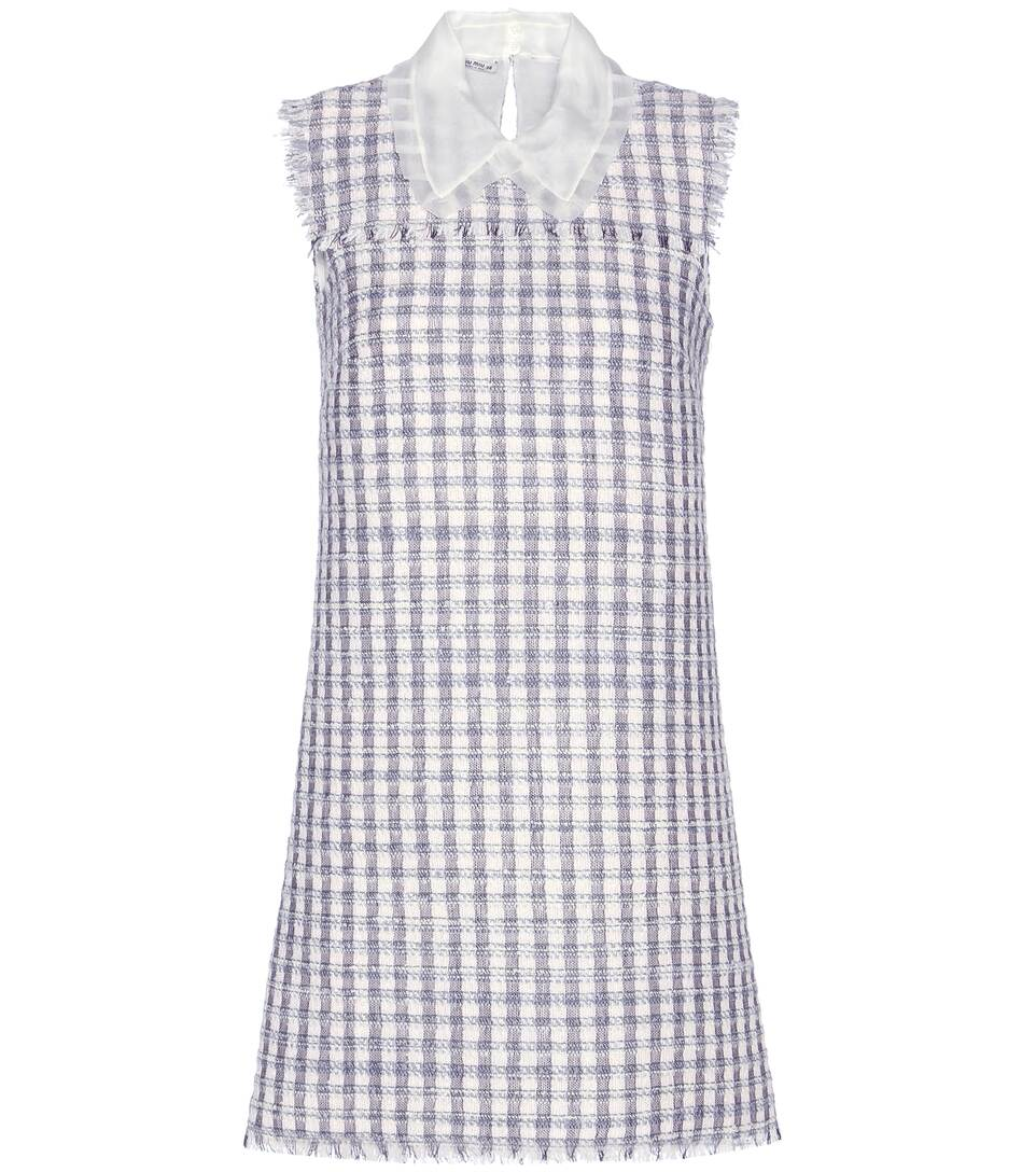 Miu Miu Wool-blend tweed dress
