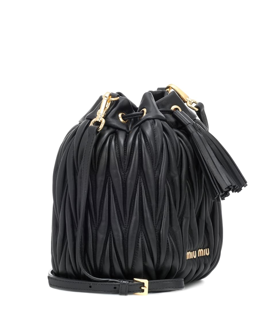 Matelassé leather bucket bag. Miu Miu bc71e61b9065