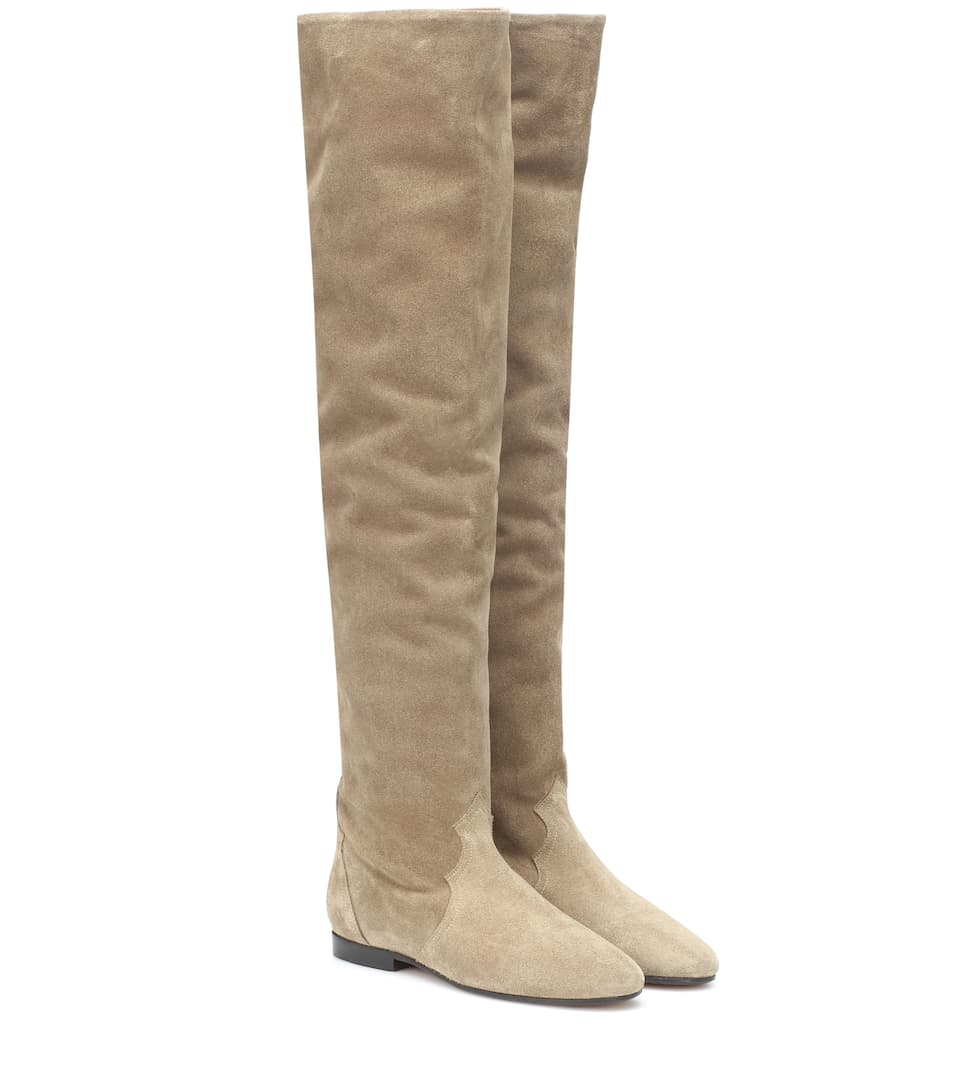 Ranald Knee High Suede Boots by Isabel Marant