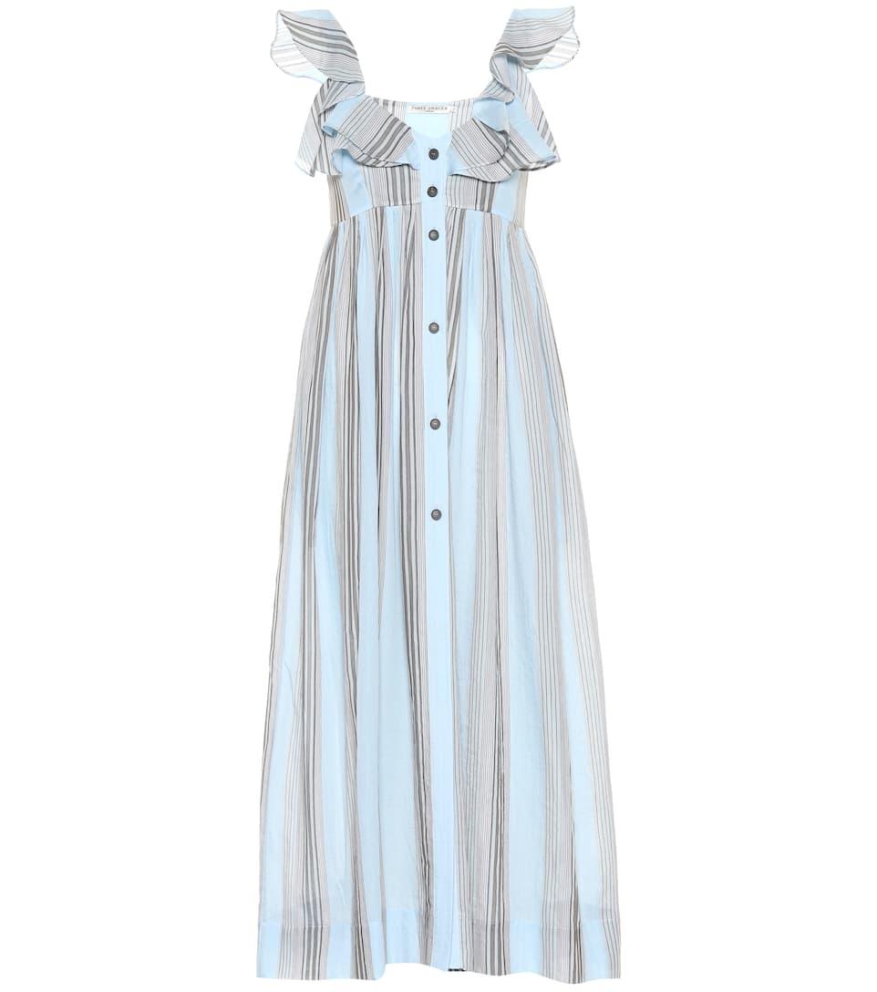 Three Graces London - Robe midi en coton rayé Beatrice Visiter Le Nouveau À Vendre Nice Prix Pas Cher Pas Cher À La Recherche De iOMgqSnC