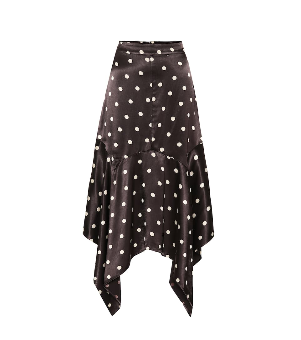 Polka Dot Satin Skirt by Ganni