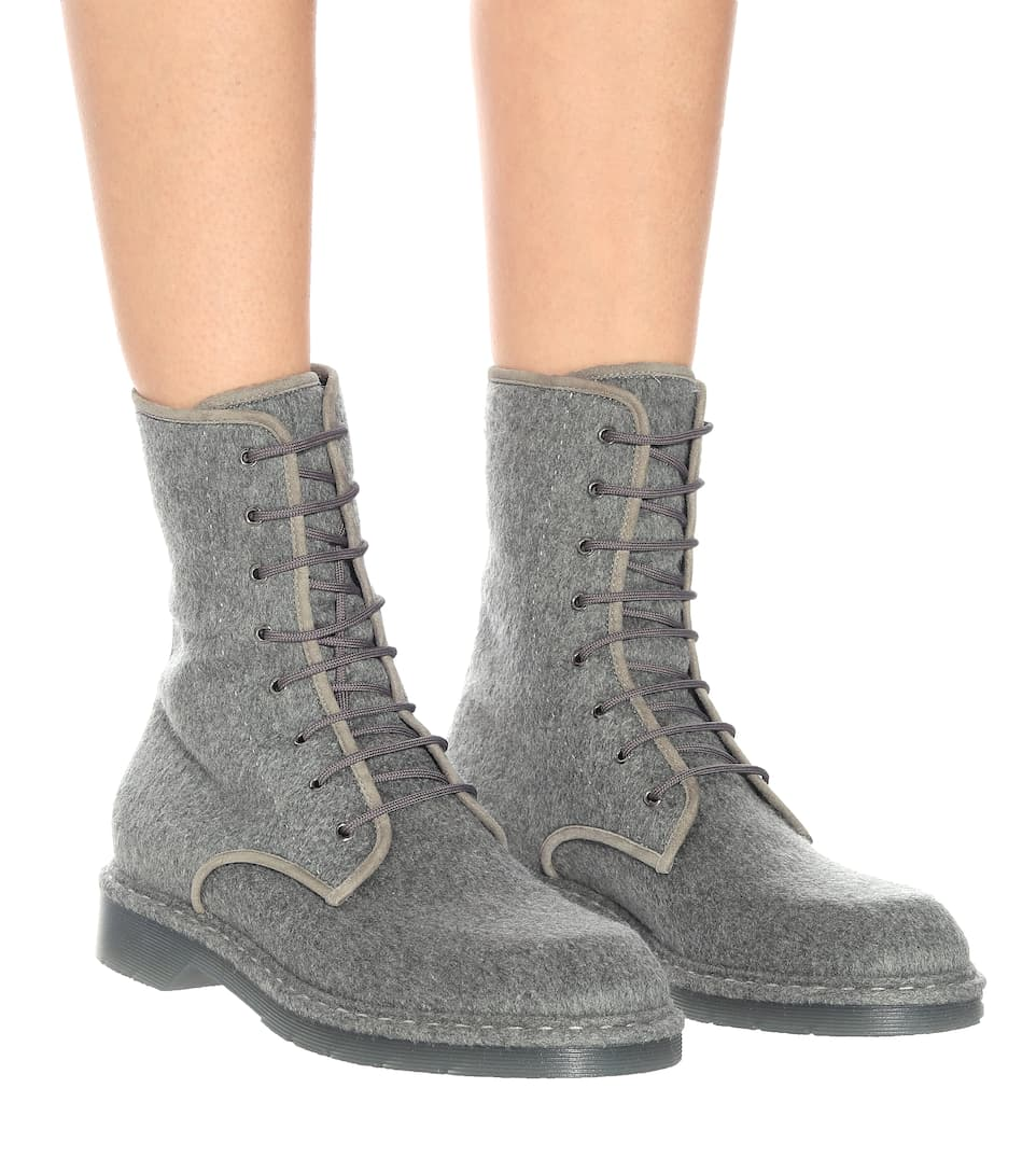 Baker Leather-Trimmed Ankle Boots | Max