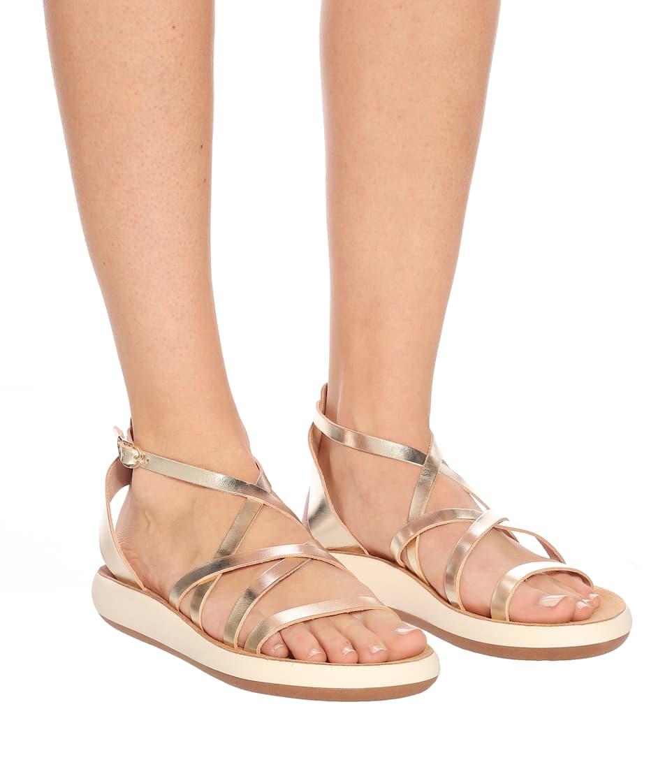 Sandali Delia Comfort In Pelle Metallizzata - Ancient Greek Sandals | Mytheresa bZr3DNxL