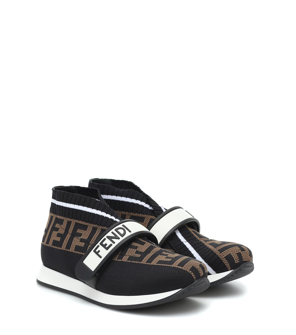 Ff Jacquard Sneakers   Fendi Kids