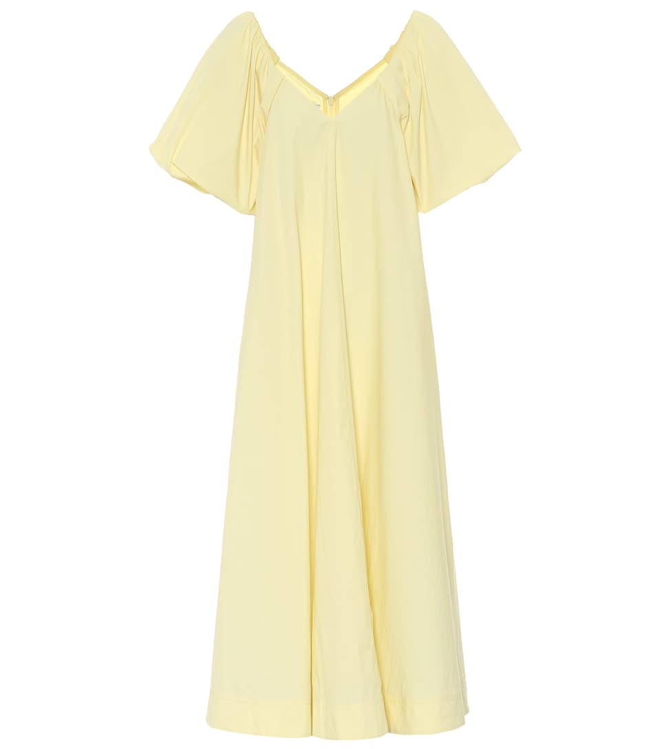 Co TTON-BLEND POPLIN DRESS