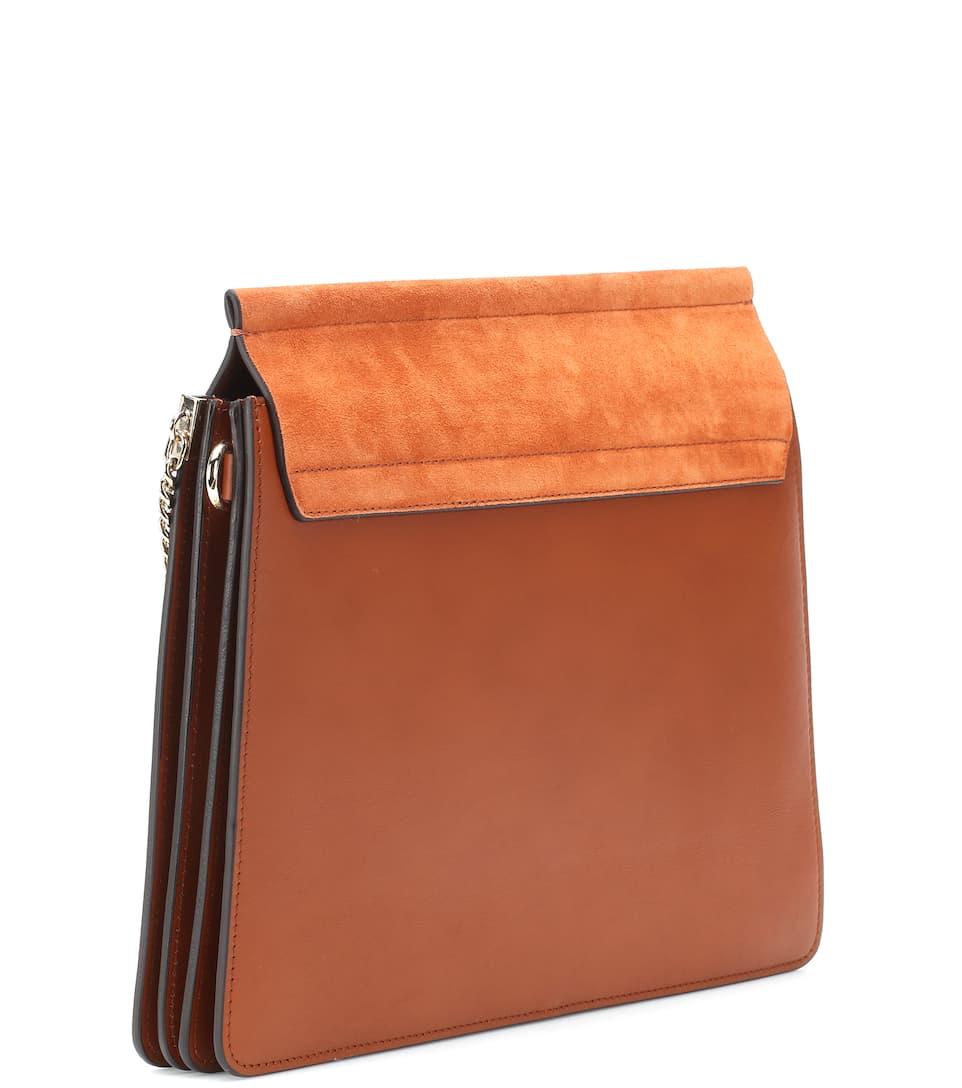 faye leather and suede shoulder bag chlo. Black Bedroom Furniture Sets. Home Design Ideas