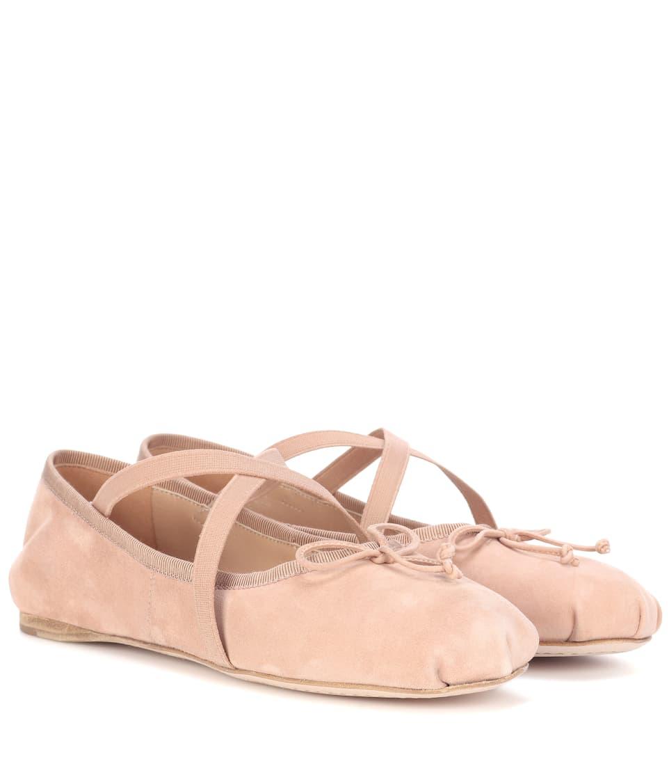 Miu Miu Ballerinas aus Veloursleder