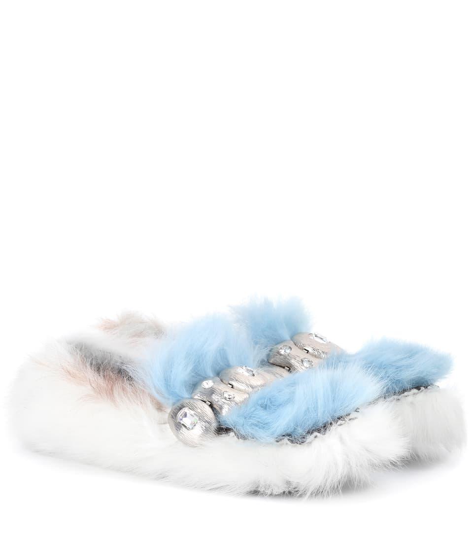 Prada Slippers aus Shearling