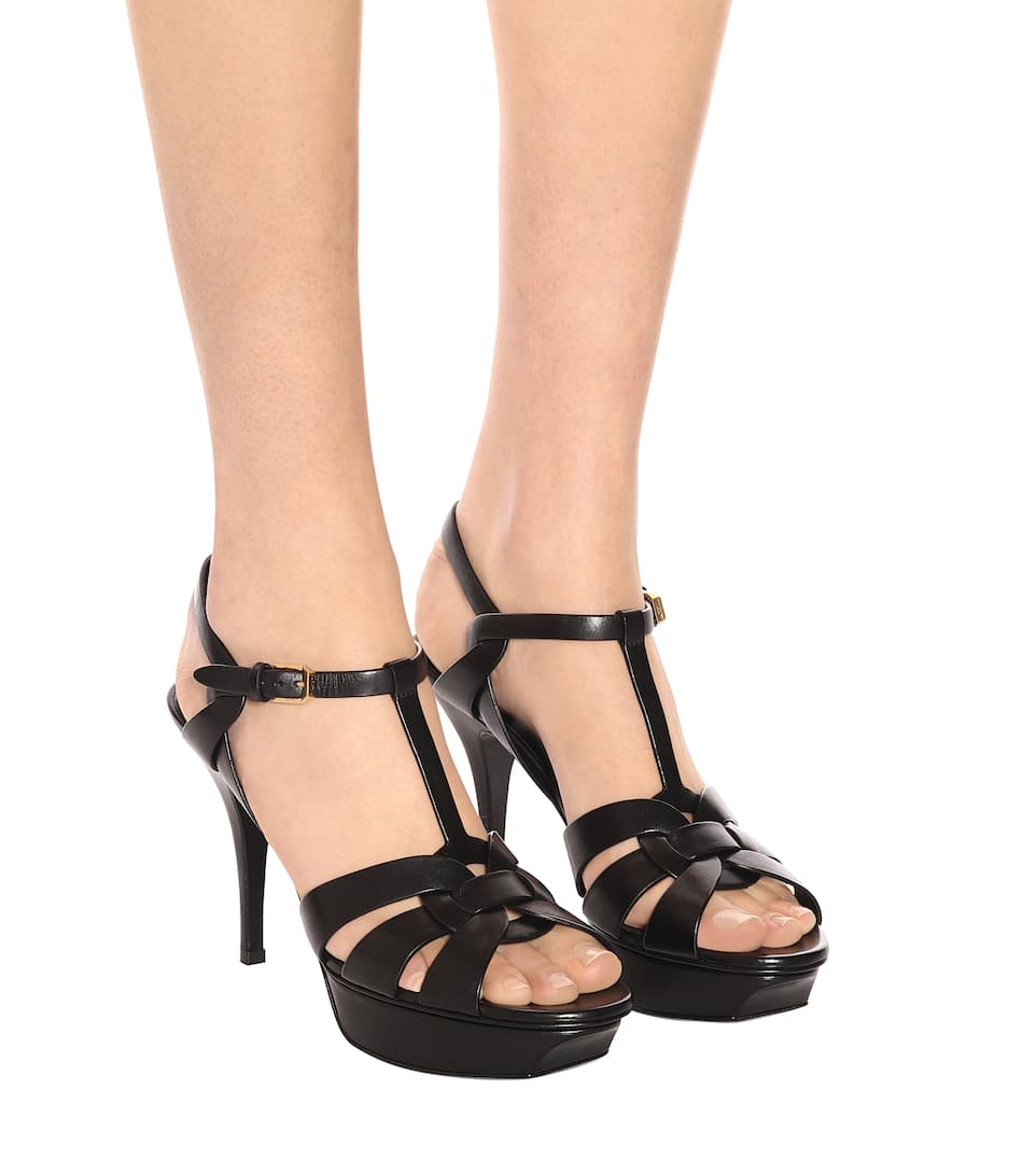 Saint Laurent Sandalen Tribute 75 aus Leder