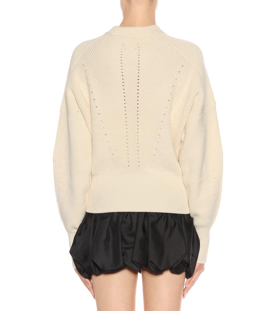 Isabel Marant Strickpullover Lonnyl aus Wolle und Baumwolle