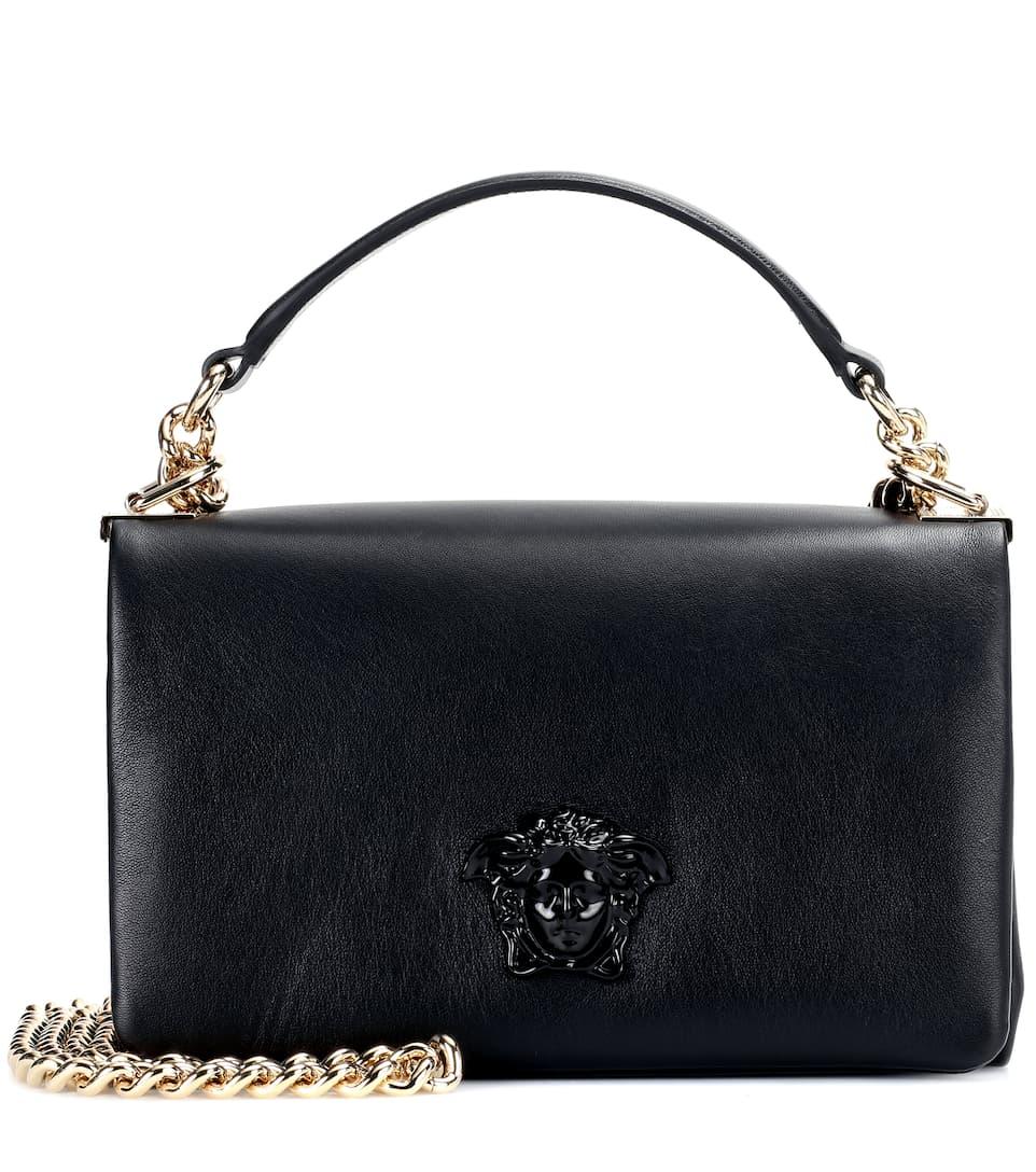 Versace - Palazzo leather shoulder bag  c9561eb11a36e
