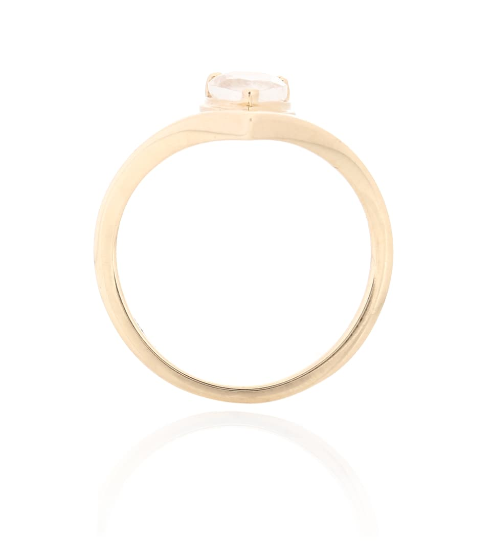 Anna Sheffield Celestine Orbit 14kt yellow gold ring with moonstone Ubf4aS
