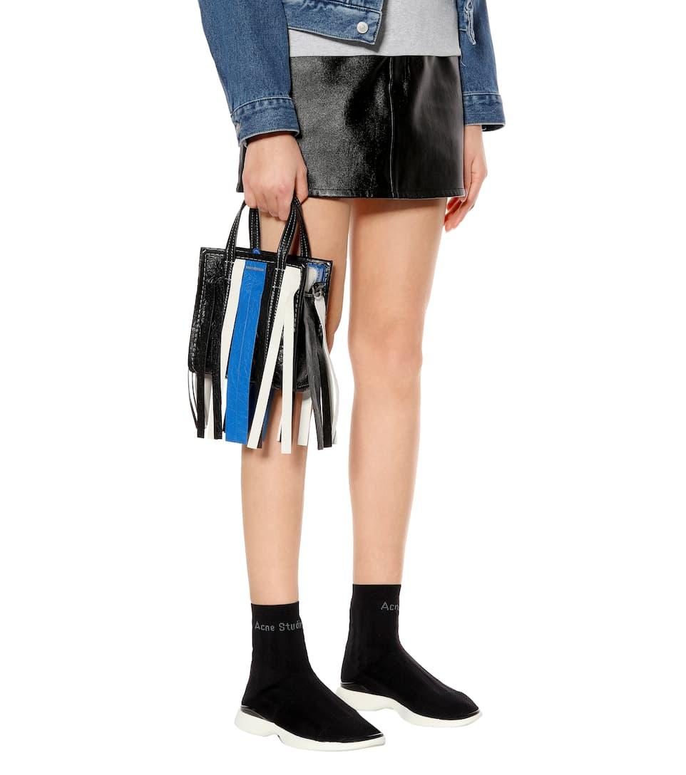 Balenciaga Franges Xxs Shopper Bazar Cuir Le Moins Cher Marque Vente Pas Cher Nouveau Unisexe 91Z5nU6