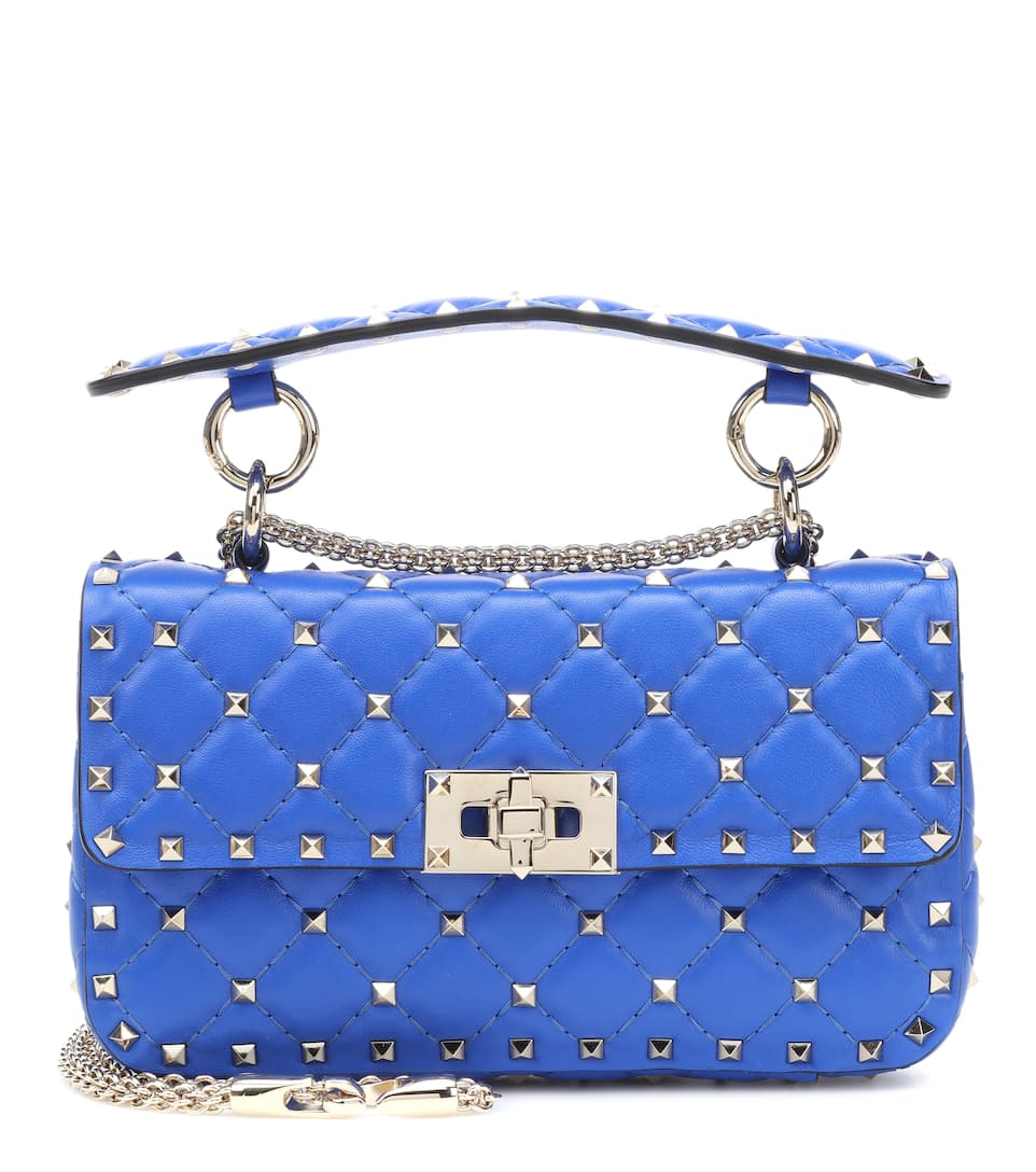 71bd4eff77 Valentino Garavani Rockstud Spike Small Leather Shoulder Bag - Valentino |  mytheresa.com