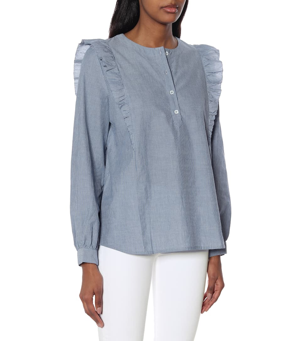 A.P.C. - Blusa Noemie a righe in cotone