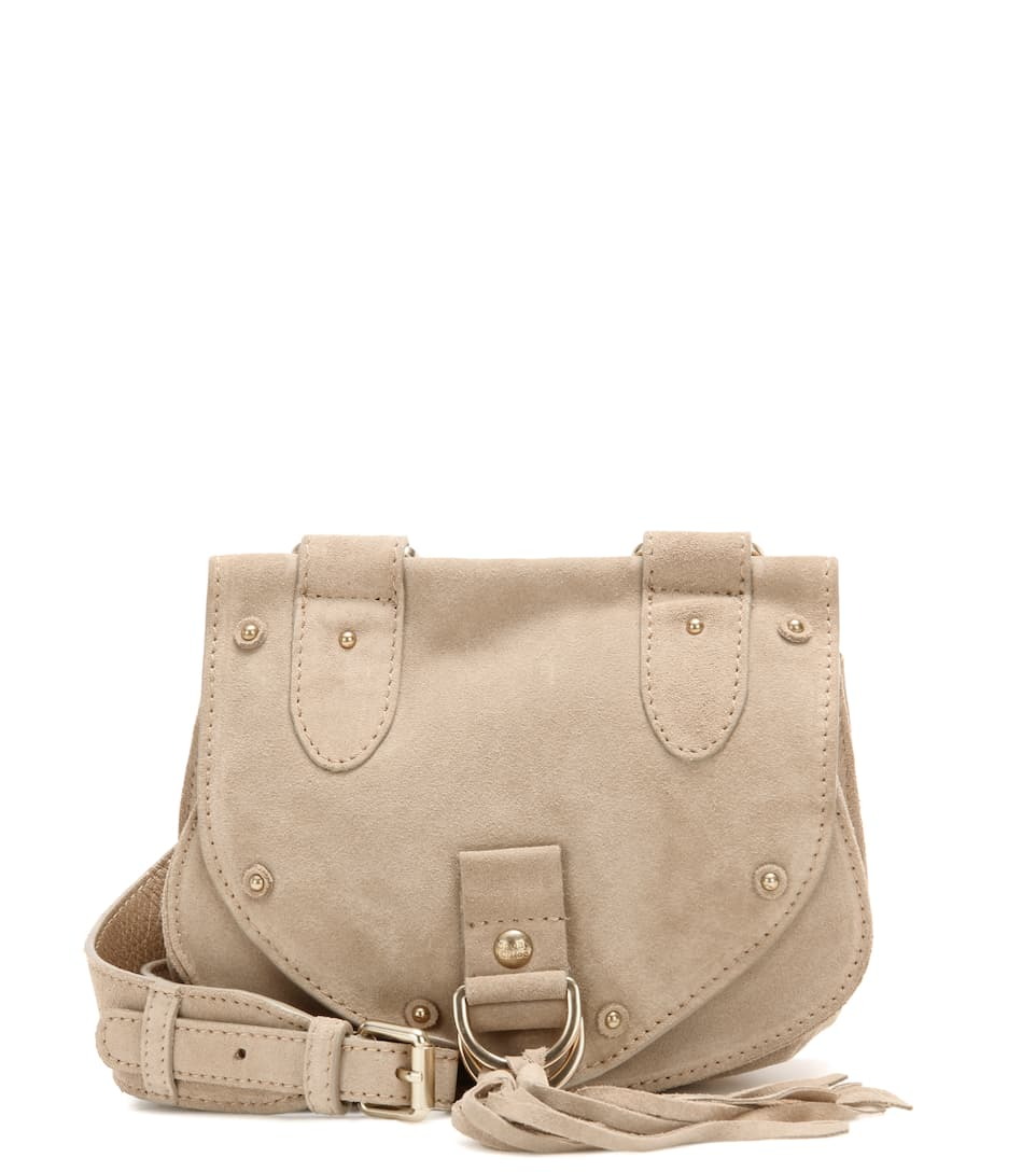 See By Chloé Schultertasche Collins Small aus Veloursleder