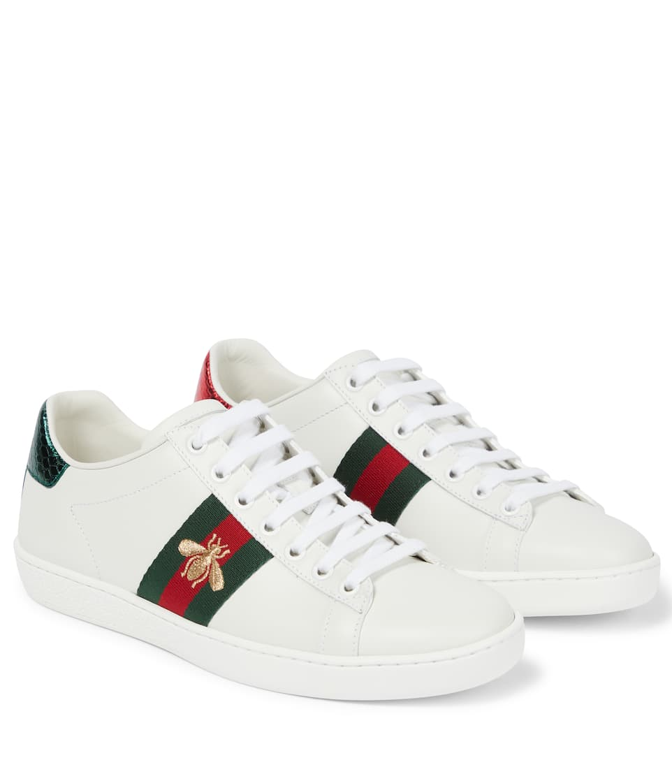 aaa7307c9502 Ace Leather Sneakers - Gucci