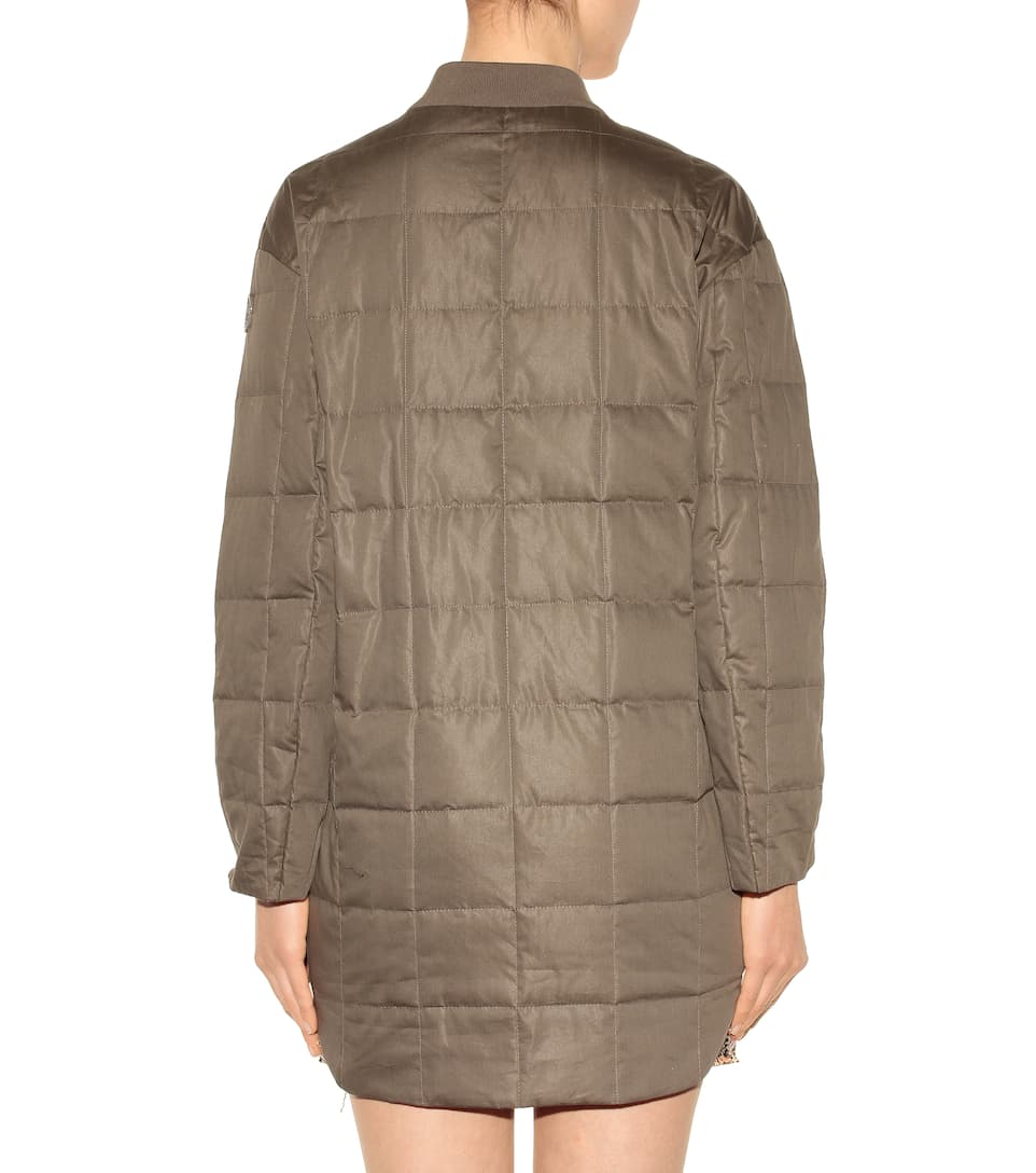 Moncler Gamme Rouge Downy Coat Of Cotton And Silk