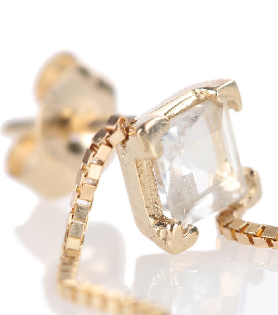 Fairy Floss 14kt gold and white topaz earring Loren Stewart 9mGOmWjl