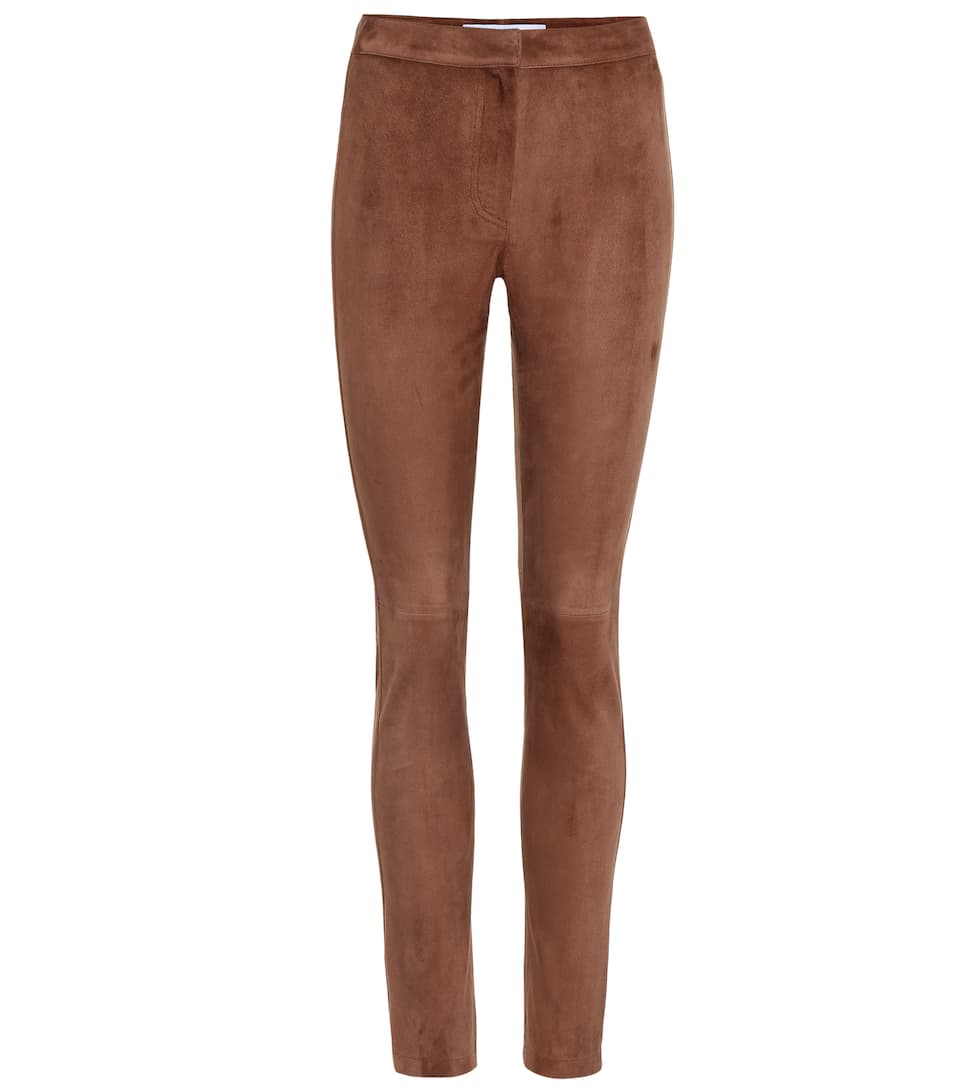 Suede Trousers in Brown