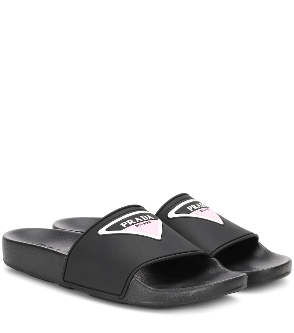 151c524aa Logo Rubber Slides - Prada | mytheresa