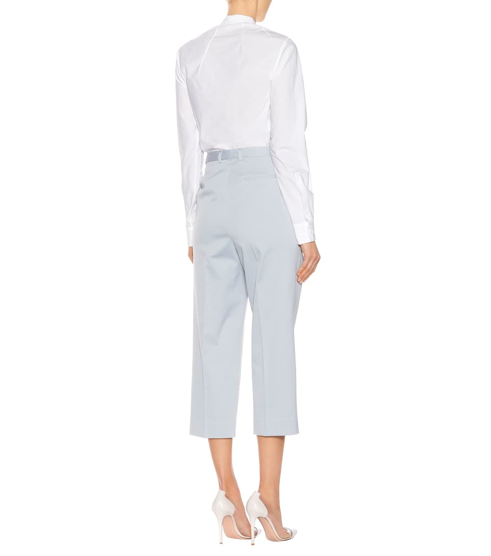 Bottega Veneta Cropped-Hose aus Stretch-Baumwolle