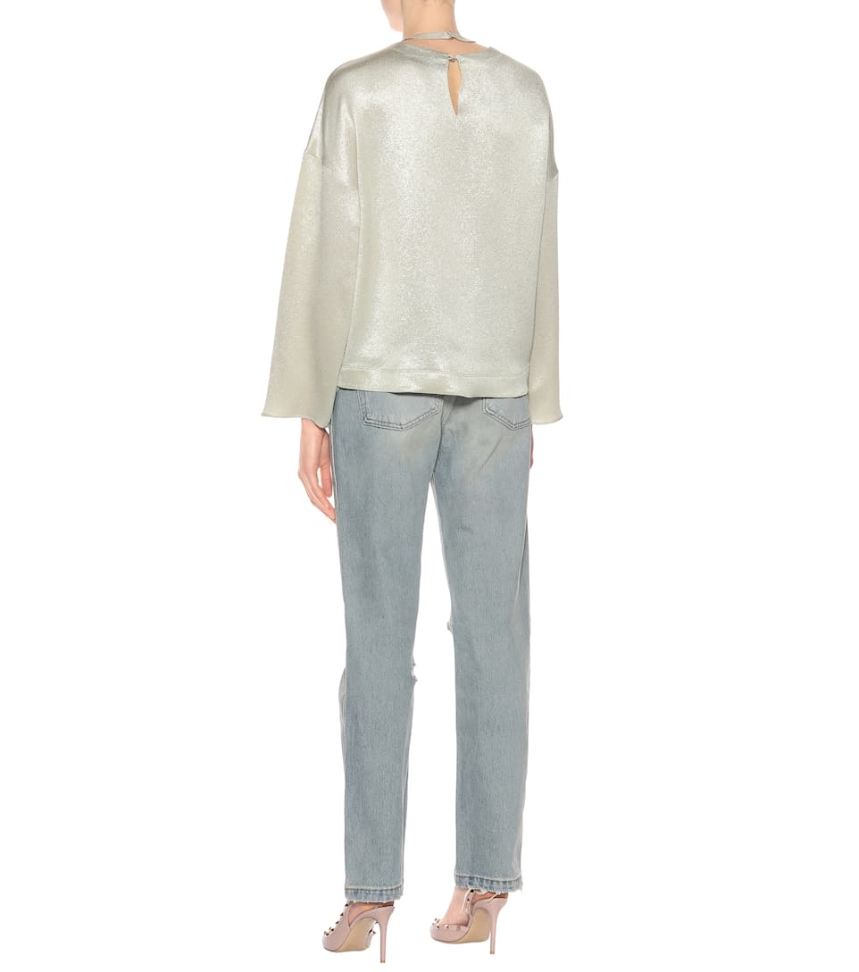 top Hammered lamé Hammered Valentino Valentino gold top Hammered lamé gold top Valentino lamé xI6cFqwpU