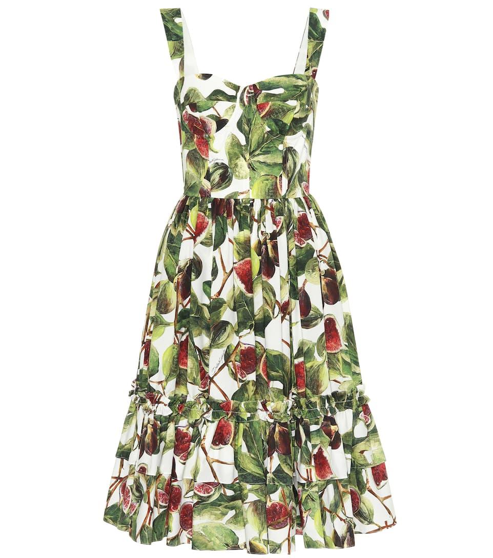 1ff7cf268d3 Dolce   Gabbana - Fig cotton poplin dress