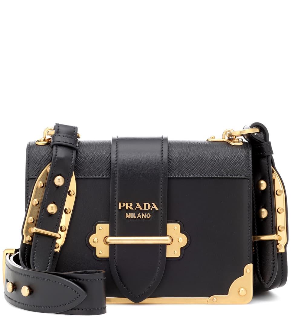 356982b2d283 Cahier Leather Shoulder Bag - Prada | mytheresa