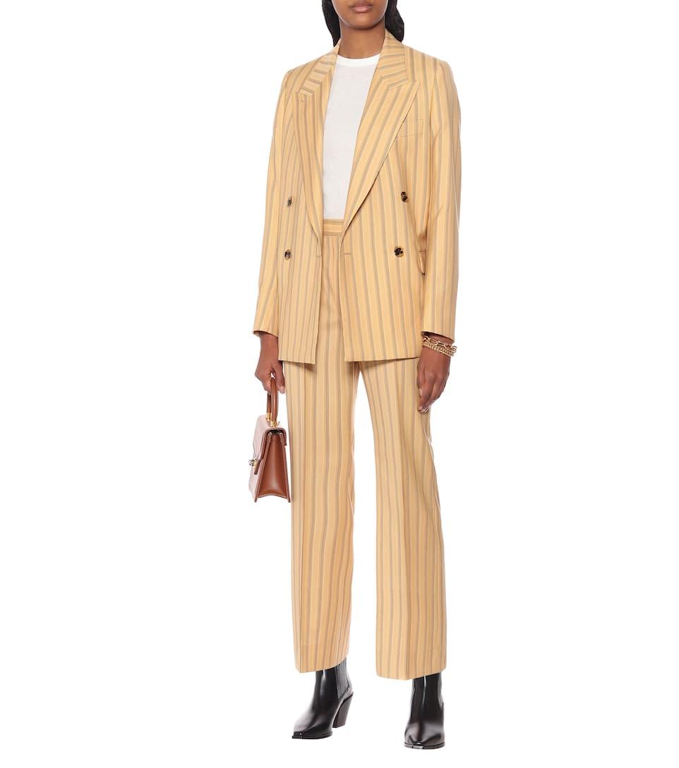 Acne Studios - Striped high-rise flared wool pants