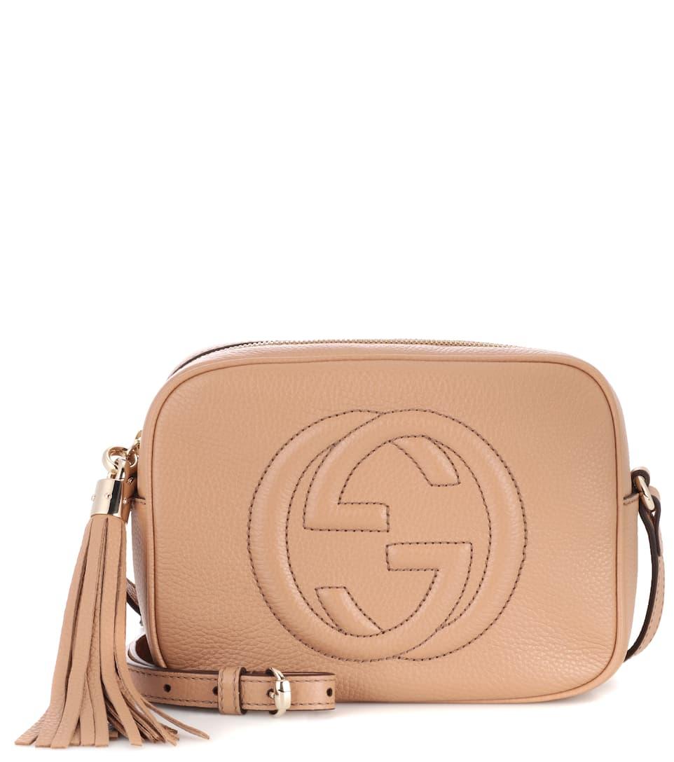 gucci soho disco leather shoulder bag camelia modesens. Black Bedroom Furniture Sets. Home Design Ideas