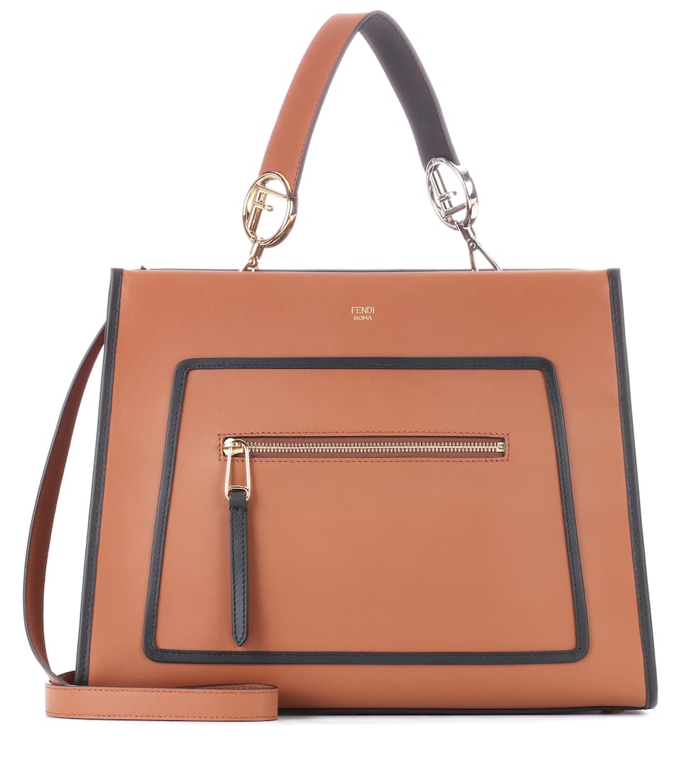 Brown Runaway Leather Shoulder Bag