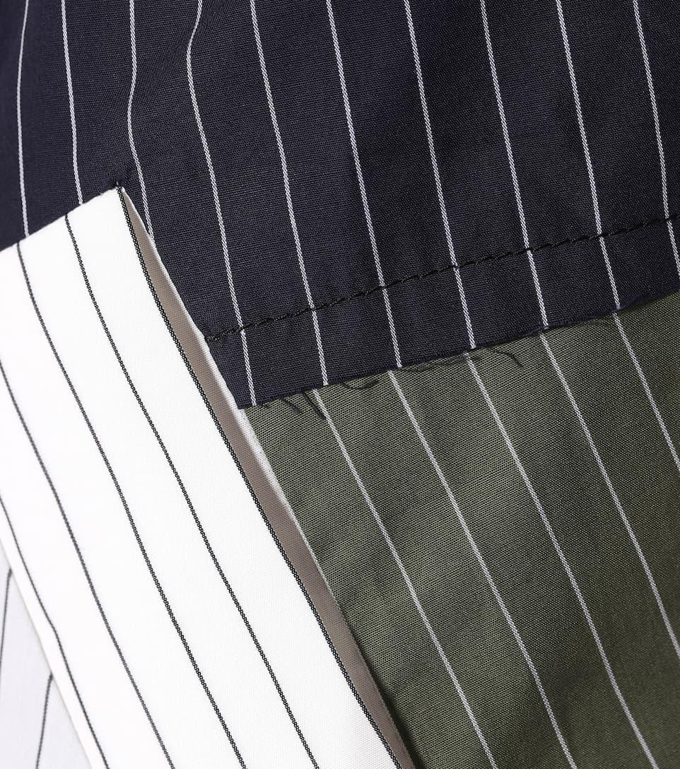 JW Anderson Asymmetrisches Kleid mit Streifen aus Baumwolle