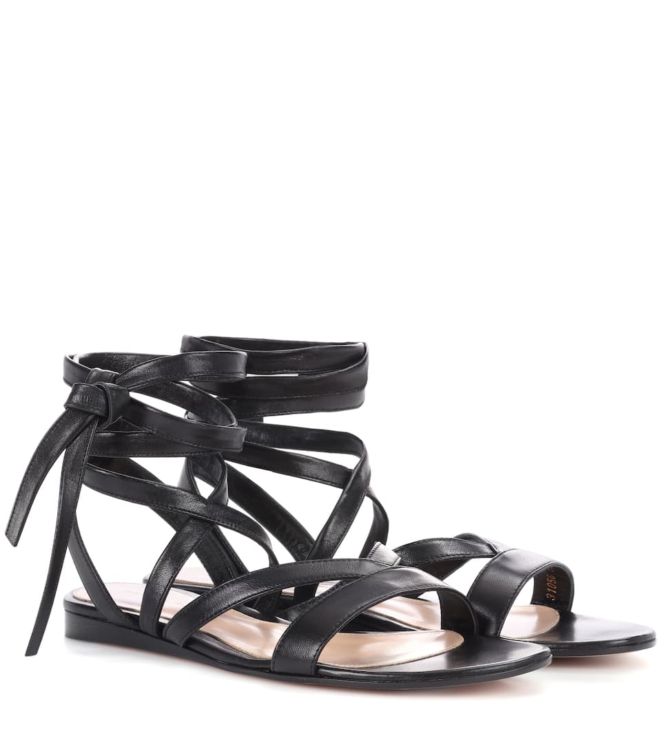 EXCLUSIVE TO MYTHERESA.COM - JANIS FLAT LEATHER SANDALS