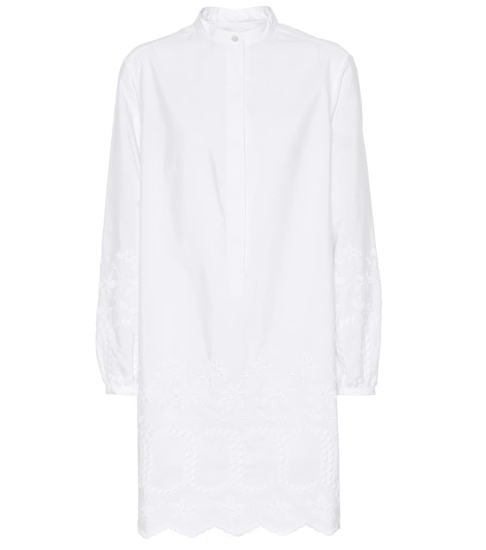 Burberry Besticktes Kleid aus Baumwolle