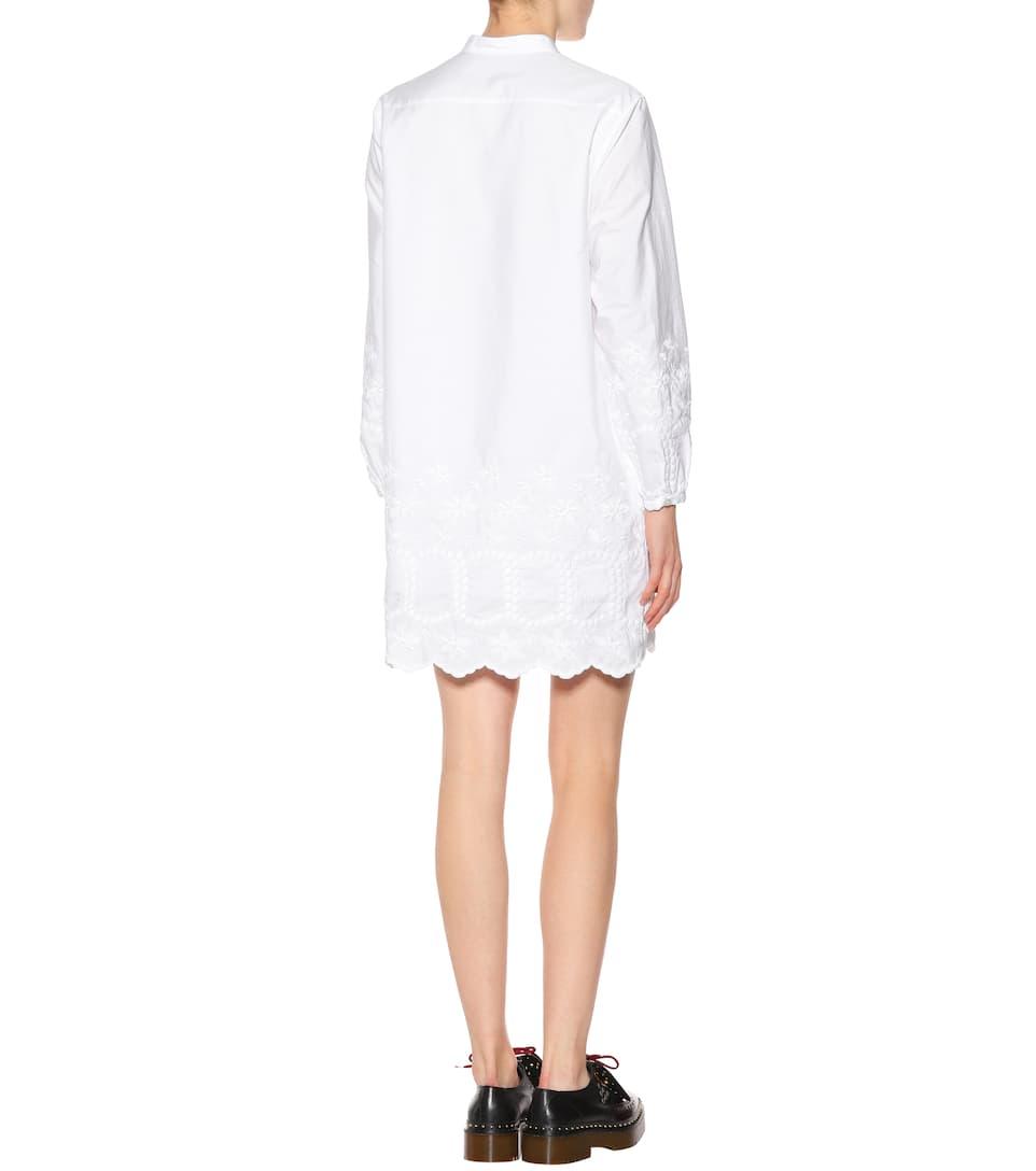 Burberry - Robe chemise en coton Remises En Vente Jeu Réel Pas Cher Acheter Des Sites Web À Bas Prix qYtngFd