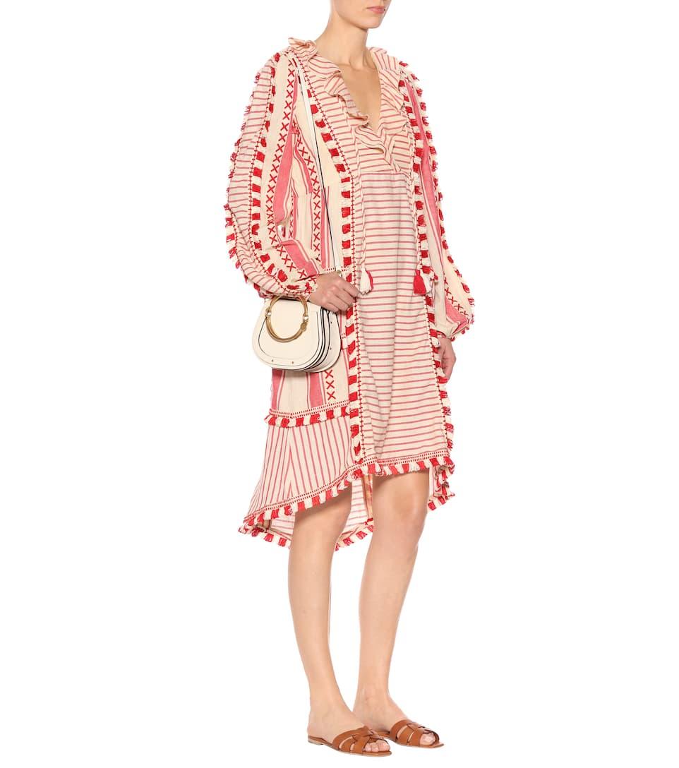Dodo Bar Or Gestreiftes Midikleid aus Baumwolle
