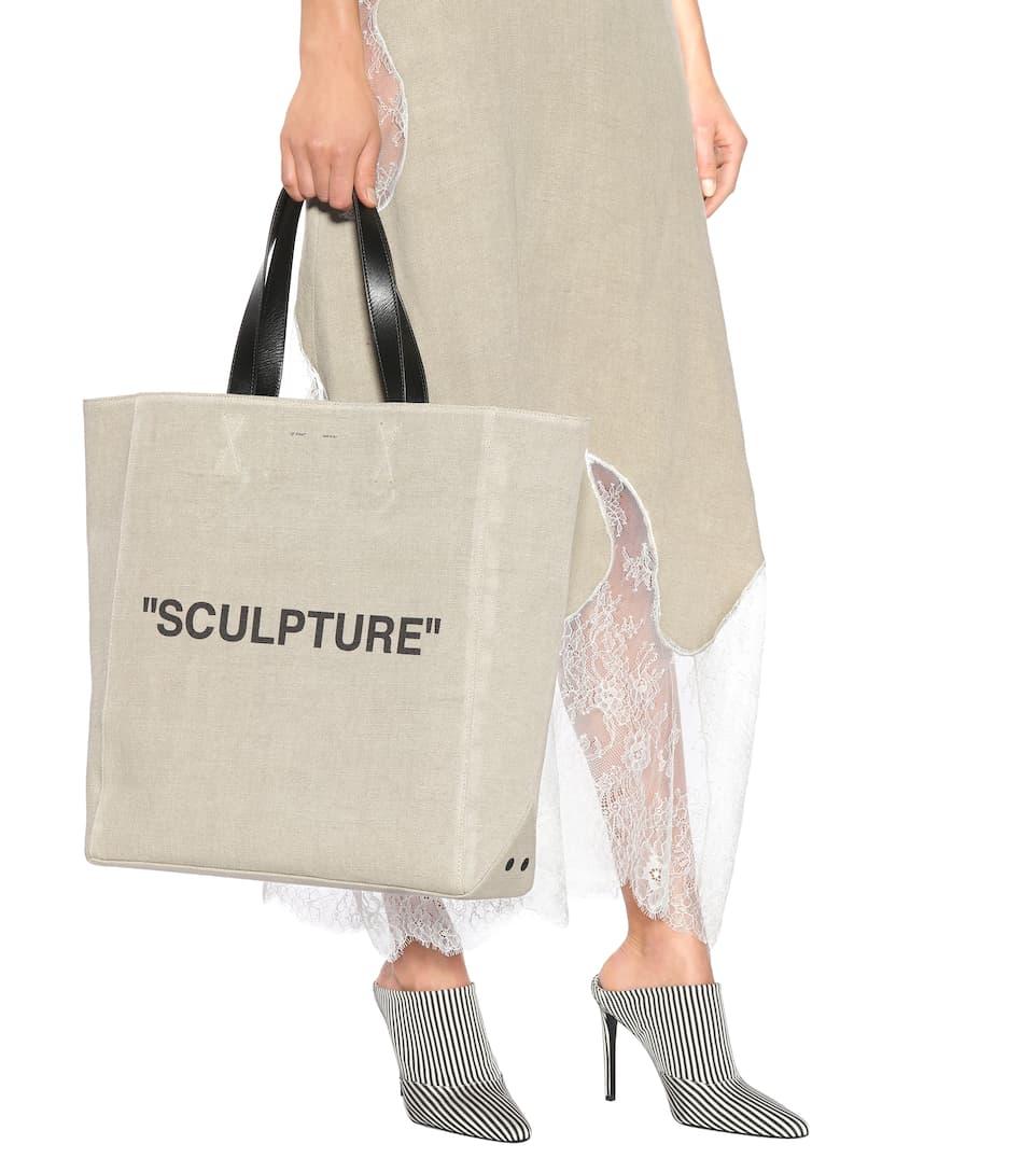 Off-White Shopper aus Stoff