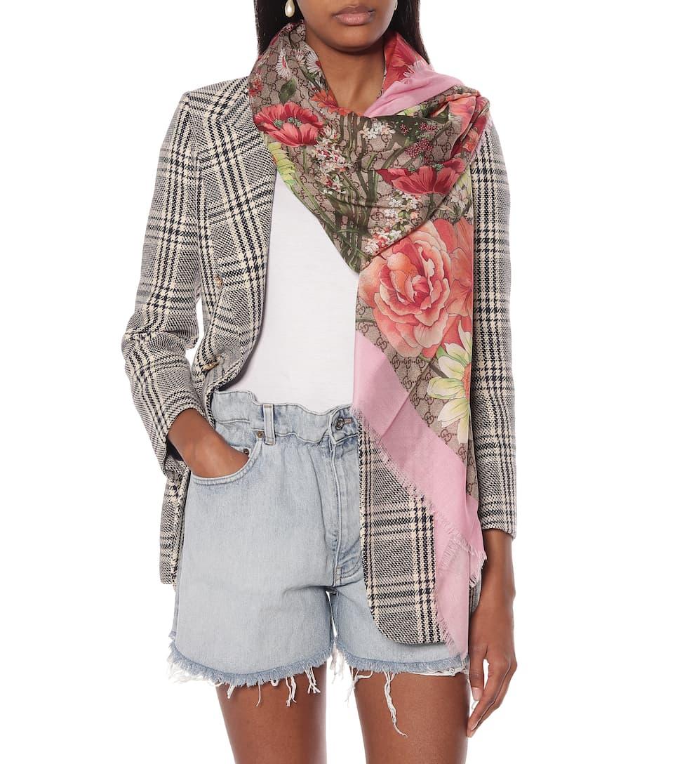 Spring Bouquet silk-blend scarf Gucci h1oSx1QMw0