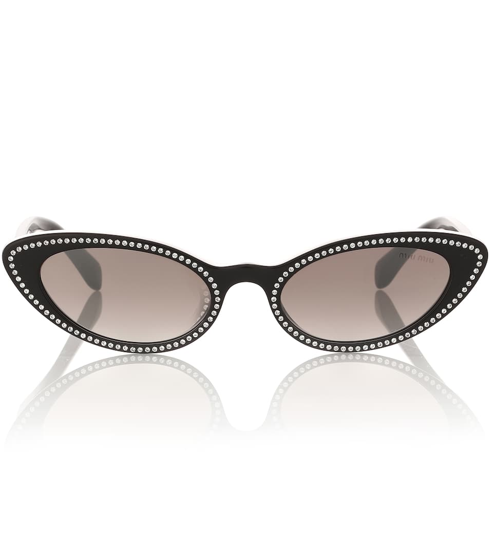 4e7099f9d39d Logo Embellished Cat-Eye Sunglasses - Miu Miu | Mytheresa