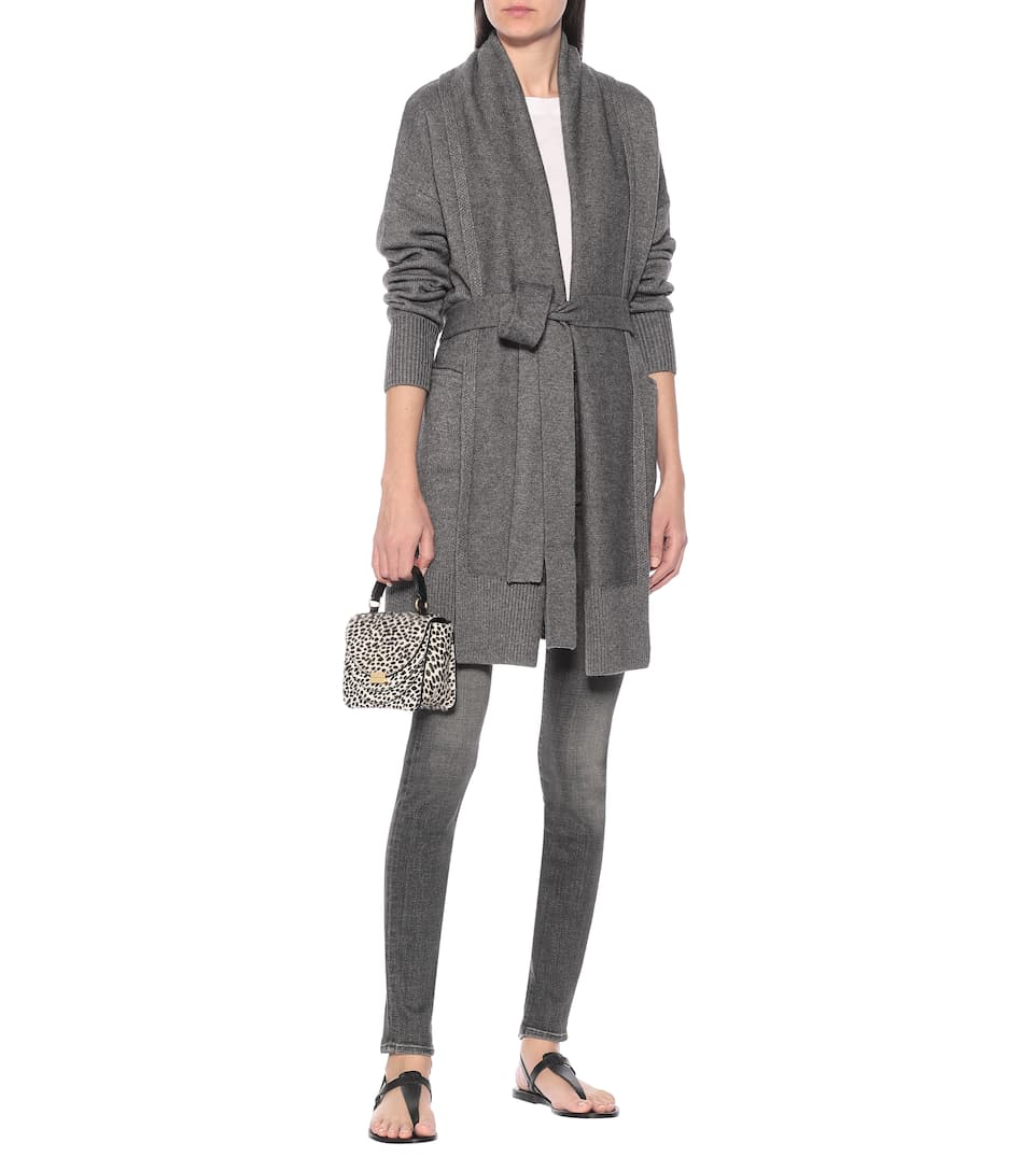 Co - Belted wool and cashmere cardigan